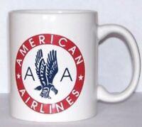 American Airlines 50s Eagle Coffee Mug AA Wings Logo Ceramic 11 oz