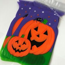 6 X Halloween Pumpkin TREAT GOODY ZIPPER BAGS Sweet Trick or Treat cookie