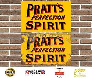 Pratts Perfection Metal Sign Garage Sign Wall Plaque Vintage Retro Man Cave Bar