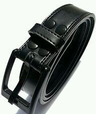 "Airport friendly, Anti-allergic, Metalfree belt black Sz 30"" - 34"" Leather Belt"