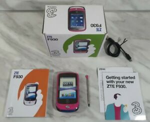 ZTE F930 - Pink Flowers (Three) Smartphone Boxed Working Tested VGC