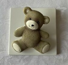 Teddy Bear Wall hook Clip Artwork Nursery Playroom Classroom Child Decoration