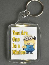 Keyring With MINION Despicable Me Theme - 45mm x 35mm Large Key Ring