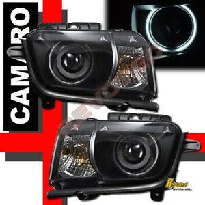 2010-2013 Chevy Camaro LS LT SS Black G3 Super Bright Halo Projector Headlights