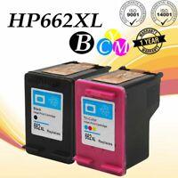2 Pack 662XL Ink Cartridge Set For HP Deskjet 2646 3515 3516 3545 3546 3565 4645