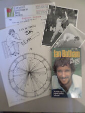 Mixed lot of cricketer ~ Ian Botham inc signed book / photos / signed print