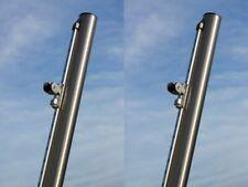 Rohr Mast Pfosten V2A Edelstahl 60 Mast für Sonnensegel höhenverstellbar 1,0m
