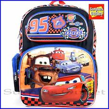 "Cars Backpack Disney Pixar Cars 16"" Large School Backpack Book Bag"