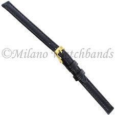 8mm Morellato Genuine Leather Black Stitched Ladies Watch Band 112