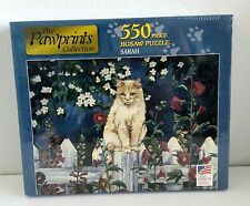 """Pawprints Collection Jigsaw Puzzle Sarah Kitty Cat 550 Pieces 18""""x24"""" USA NEW"""