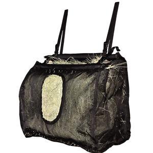 Cashel Horse Mesh Stall Hay Bag Large Holds Flakes Black U--BLA