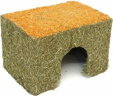 Rosewood Naturals Carrot Cottage with Meadow Hay Wall Guinea Pig House - Medium