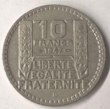Rare 10 Francs Turin 1947B Petite Tête Monnaie Française TTB/ Sup N1