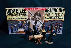 KING & COUNTRY CW0102 LINCOLN & HIS GENERALS,  GRANT, MEADE & CUSTER.