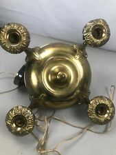 Antique Hanging Mission Four Bulb Hanging Fixture Bryant Fat Boy Paddle Sockets