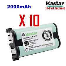 Kastar HHR-P513 (10 Pack) Phone Battery 2.4V 2000mAh for Type 27, NI-MH