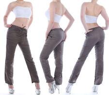 Leinene bequem sitzende Damenhosen Hosengröße 38