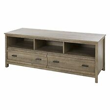 South Shore Exhibit TV Stand for TVs up to 60 In., Weathered Oak New