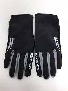 Large Sugoi LT Run Gloves Black