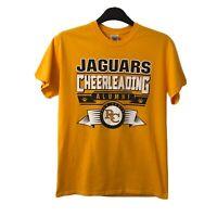 Mens T-shirt Tee Yellow Jaguars cheerleading aluimni rock canyon USA Size M