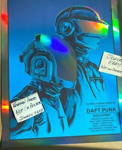 DAFT PUNK Discovery 2019 A/P RAINBOW FOIL Poster Signed by the Artist Tim Doyle
