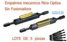 Empalme mecánico para Fibra Optica  ( SIN FUSIONADORA ) . Kit 5 piezas