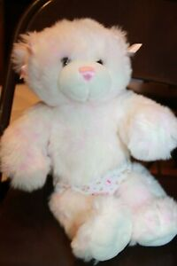 Build a Bear Pink white Plush Bear with bows 15 inches hello kitty briefs
