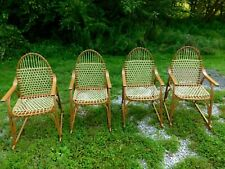 Set Of Four Vermont Snowshoe Furniture Chairs Clean!