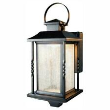 Home Decorators Collection Portable Black Outdoor LED Wall Lantern Sconce
