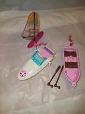 LEGO Friends 3 Boats Lot  Row Boat w/Oars and Sail Boat