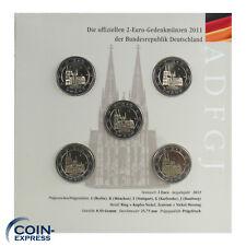 *** 2 Euro Gedenkmünzenset Deutschland 2011 Bundesländer Kölner Dom im Folder **