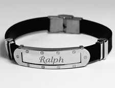RICHARD - Mens Bracelet With Name - Silver Tone With Frame - Personalized Gifts
