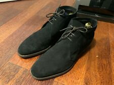 "Edward Green ""Shanklin"" Chukka Boot Shoes - UK 8 -Black Suede  RRP £760"