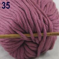 Sale New 1Skeinx50g Super Soft Pure Cotton Chunky Shawl Hand Knitting Yarn 35