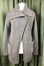 Kew Alpaca Wool Mohair Grey Collar Cardigan M/L UK12-14 EU40-42