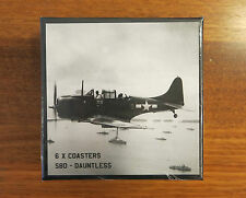 AVIATION COASTERS SET OF 6 DOUGLAS SBD DAUNTLESS PREMIUM QUALITY DRINK COASTERS