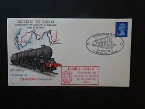 PLS9 GB Railway First Day Cover Return to Steam dated 1972