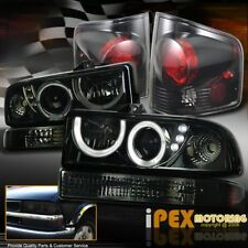 CHEVY S10 Halo Projector LED Smoke Headlight+Dark Smoke Tail Light+Signal Light