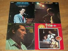 JERRY LEE LEWIS 4xLP SUN monsters ROCKIN RHYTHM & BLUES a taste of country TRIO