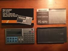 Sharp PC-1270 Pocket Computer 100% in orig. box with case and operation manual