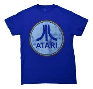 Atari Mens Classic Distressed Logo Tee Shirt New M