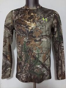 Under Armour RealTree Hunting Scent Control Camo Long Sleeve T-Shirt Men's M