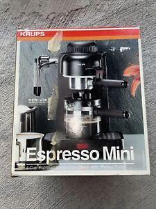 Krups Espresso Mini 4 Cup Espresso Cappuccino Maker w/ Perfect Froth White