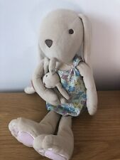 Jojo Maman Bebe Bunny Soft In Dress With Baby Comforter Hug Toy