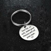 Gift Bag Accessory Round Pendant Keyring Creative Key Holder Letter Keychain JH