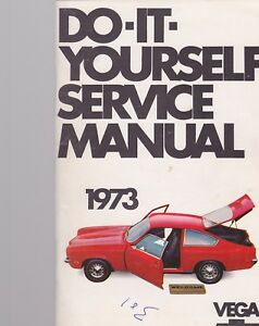 1973 CHEVROLET VEGA car owners manual DO IT YOURSELF