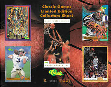 1993 CLASSIC GAMES LIMITED EDITION COLLECTORS SHEET