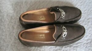 Mens Salvatore FERRAGAMO DIEGO Brown Leather(Suede) Horsebit Loafer SIZE 11 D
