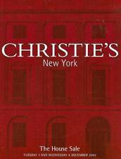 Christie's The House Sale Auction Catalog 2002
