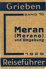 Grieben Band 70 Meran Merano und Umgebung Italien 1929 Italia